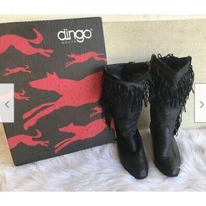 Dingo Cowboy Boots Leather Fringe